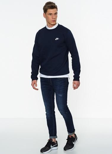Nike Uzun Kollu Sweatshirt Mavi